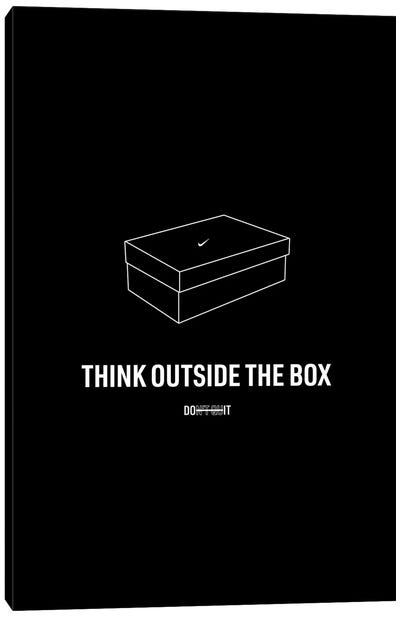 Think Outside The Box (Black Edition) Canvas Art Print