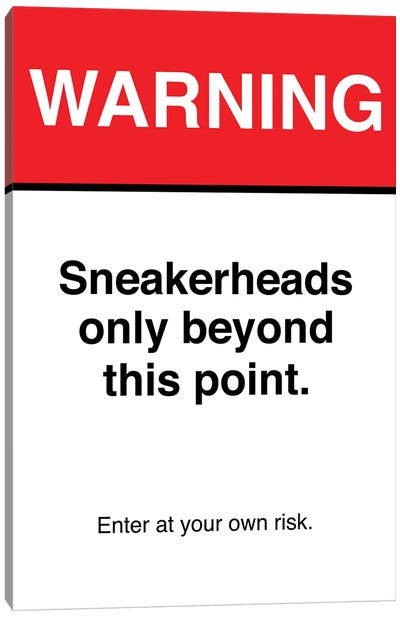 Warning Sign Canvas Art Print