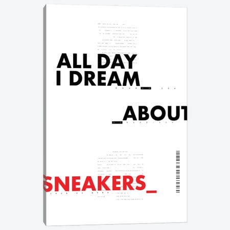 All Day I Dream About Sneakers II Canvas Print #ASX5} by avesix Art Print