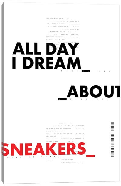 All Day I Dream About Sneakers II Canvas Art Print