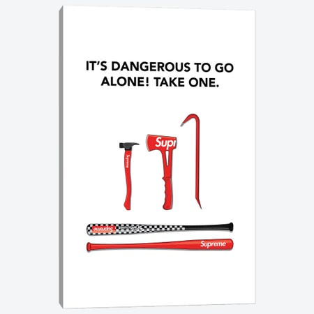 Its Dangerous Out There Canvas Print #ASX63} by avesix Canvas Wall Art