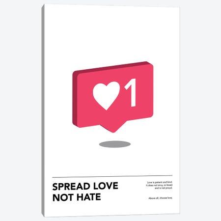Spread Love Canvas Print #ASX66} by avesix Canvas Art Print