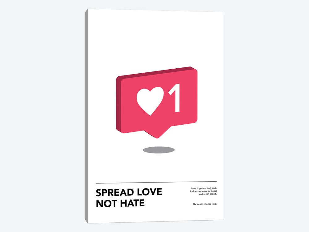 Spread Love by avesix 1-piece Canvas Art