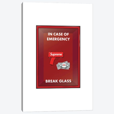 Emergency Cash Canvas Print #ASX68} by avesix Canvas Artwork