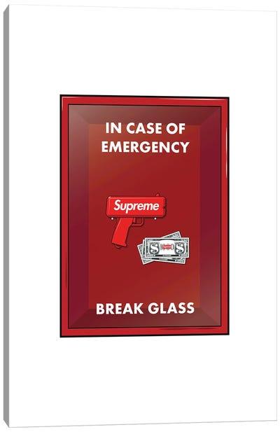 Emergency Cash Canvas Art Print