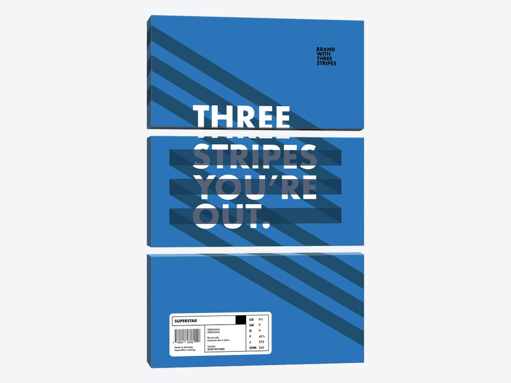 Stripe Out by avesix 3-piece Canvas Wall Art