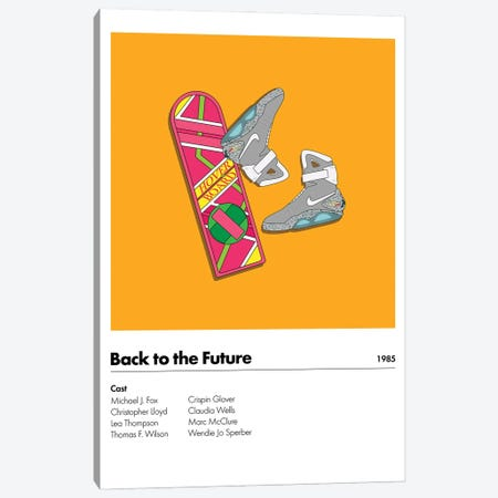 Back 2 The Future Canvas Print #ASX73} by avesix Canvas Print