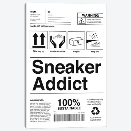 Sneaker Addict Canvas Print #ASX7} by avesix Canvas Art Print