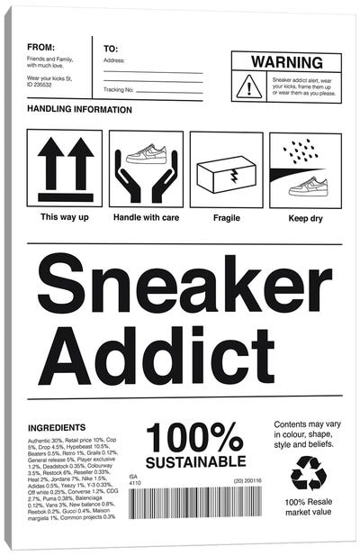 Sneaker Addict Canvas Art Print
