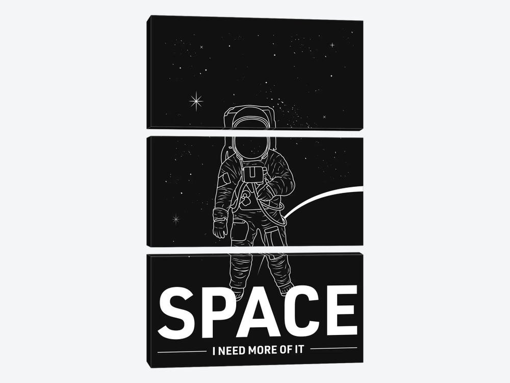 Give Me More Space by avesix 3-piece Canvas Wall Art