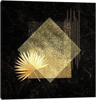Golden Geo Minimalist Art III - With Gold Leaf Accent Canvas Art Print