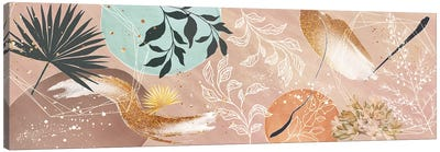 Burst Of Spring - Botanical Mixed Media Canvas Art Print