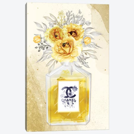 Sweet Escape: Chanel Perfume Bottle Canvas Print #ASY39} by Artsy Bessy Canvas Wall Art