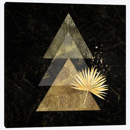 Golden Geo Minimalist Art I - With Gold Leaf Accent Canvas Print #ASY3} by Artsy Bessy Canvas Art Print