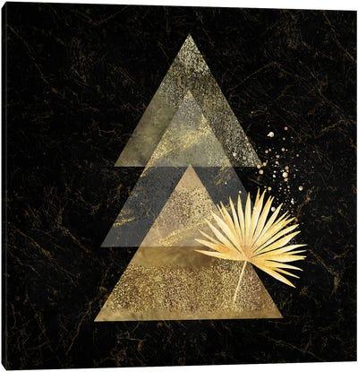 Golden Geo Minimalist Art I - With Gold Leaf Accent Canvas Art Print