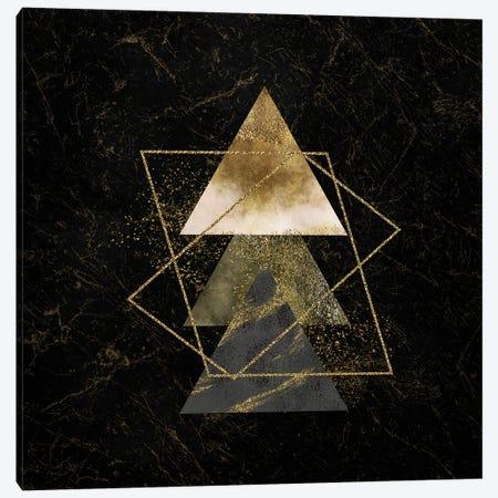 Golden Geo Minimalist Art II Canvas Print #ASY6} by Artsy Bessy Canvas Artwork