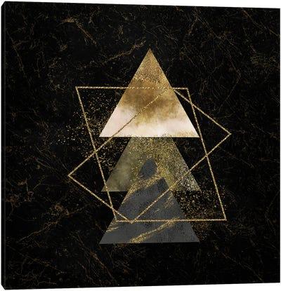 Golden Geo Minimalist Art II Canvas Art Print