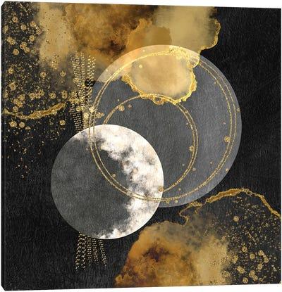 Glam Golden Spirals Geo Abstract I Canvas Art Print