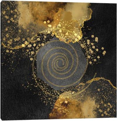 Glam Golden Spirals Geo Abstract II Canvas Art Print