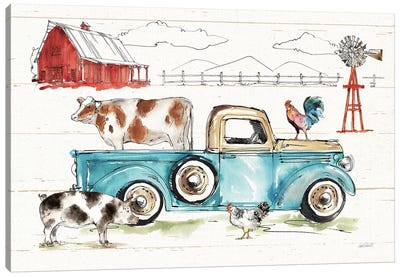 Down on the Farm I No Words Canvas Art Print