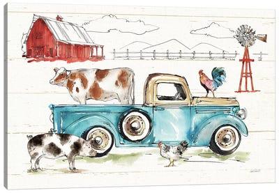 Down on the Farm I No Words Canvas Art Print