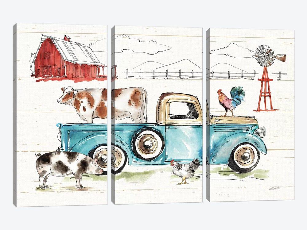 Down on the Farm I No Words by Anne Tavoletti 3-piece Canvas Wall Art