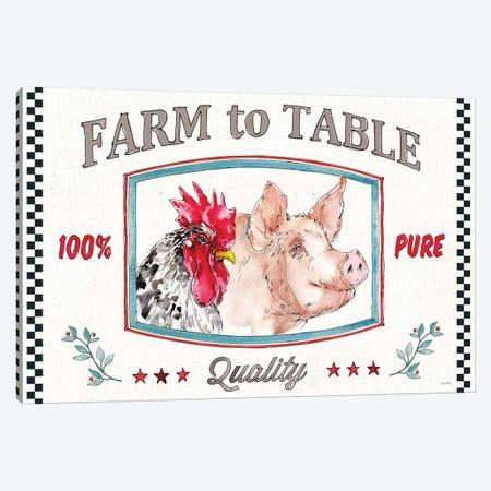 Farm Signs I Canvas Print #ATA105} by Anne Tavoletti Canvas Art Print