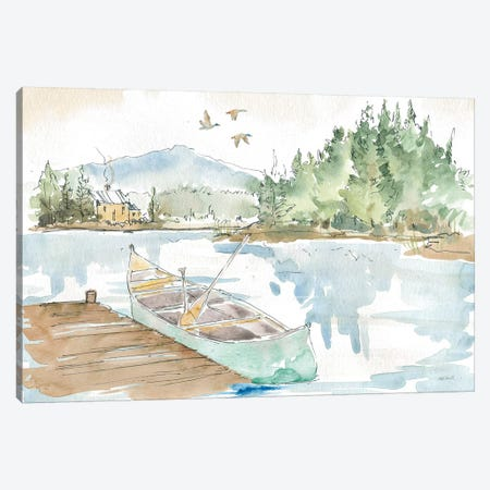 Lakehouse I Canvas Print #ATA117} by Anne Tavoletti Canvas Art