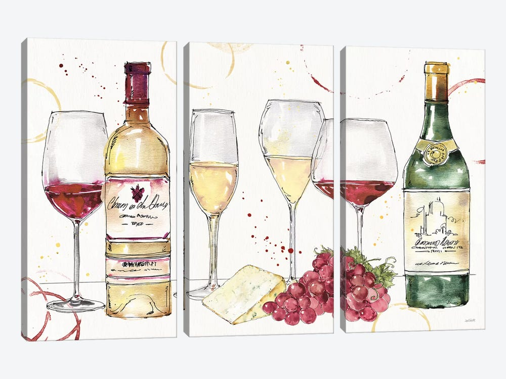 Oaked and Aged I by Anne Tavoletti 3-piece Canvas Artwork
