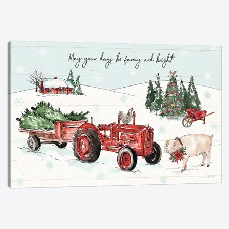 Holiday on the Farm I - Farmy and Bright Canvas Print #ATA11} by Anne Tavoletti Art Print