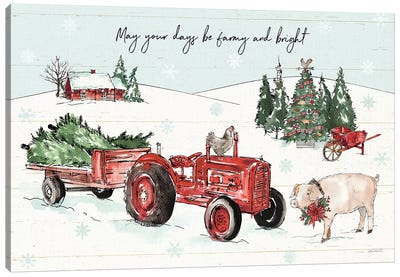 Holiday on the Farm I - Farmy and Bright Canvas Art Print