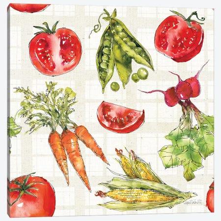 Veggie Market Pattern IA Canvas Print #ATA126} by Anne Tavoletti Canvas Print