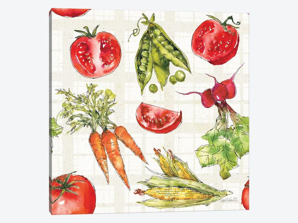 Veggie Market Pattern IA by Anne Tavoletti 1-piece Canvas Print