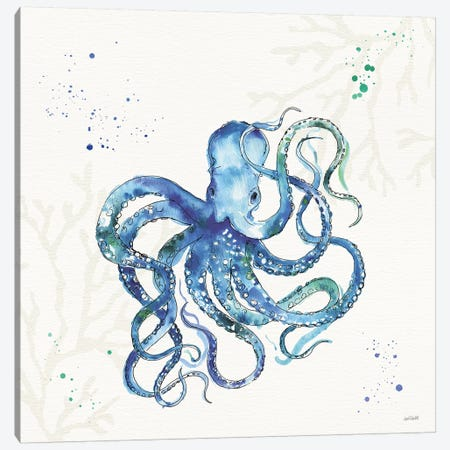 Deep Sea II No Words Canvas Print #ATA128} by Anne Tavoletti Canvas Wall Art