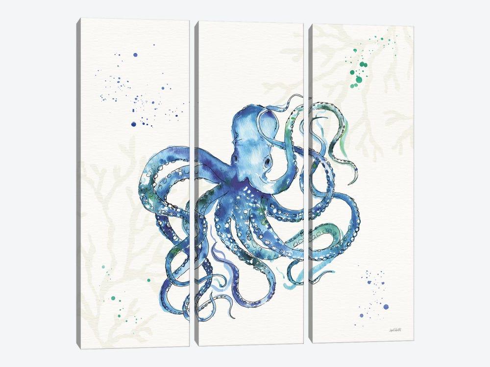 Deep Sea II No Words by Anne Tavoletti 3-piece Canvas Art Print