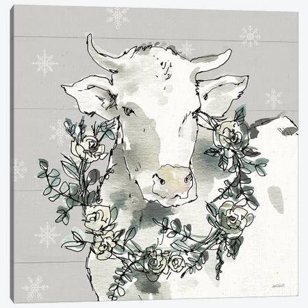 Modern Farmhouse XII Snowflakes Canvas Print #ATA134} by Anne Tavoletti Canvas Wall Art