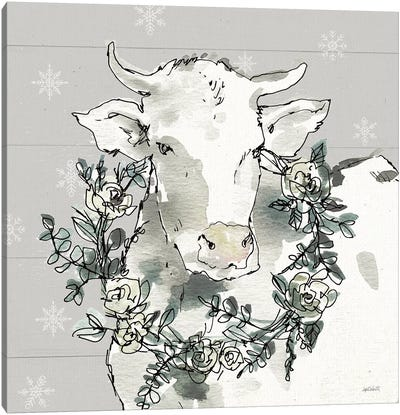 Modern Farmhouse XII Snowflakes Canvas Art Print