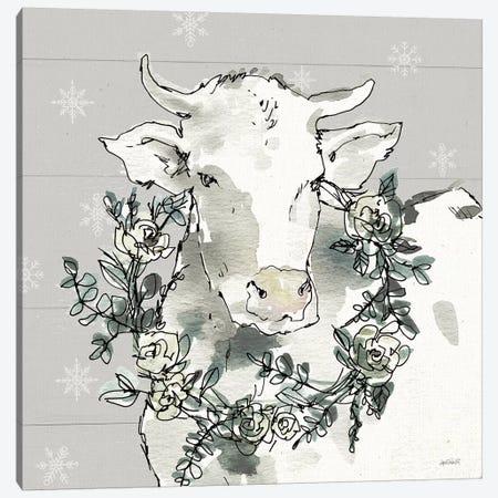 Modern Farmhouse XII Snowflakes Canvas Print #ATA134} by Anne Tavoletti Canvas Wall Art