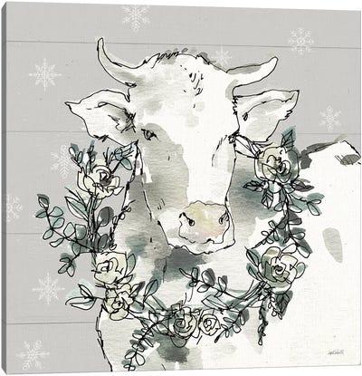 Modern Farmhouse XII Snowflakes Canvas Art Print