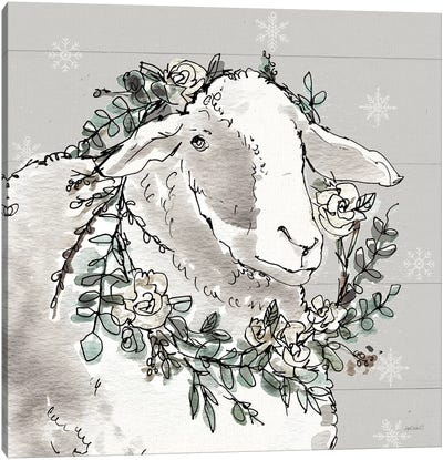 Modern Farmhouse XIII Snowflakes Canvas Art Print