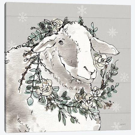 Modern Farmhouse XIII Snowflakes Canvas Print #ATA135} by Anne Tavoletti Canvas Wall Art
