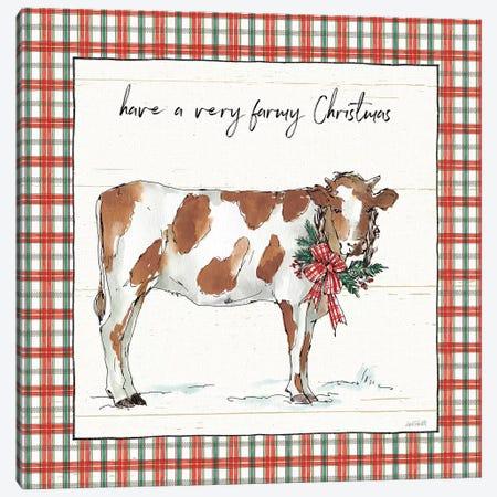 Holiday on the Farm III - Plaid Canvas Print #ATA13} by Anne Tavoletti Art Print