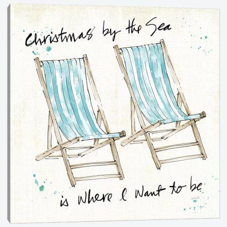 Beach Divas XI Christmas Canvas Print #ATA141} by Anne Tavoletti Canvas Artwork