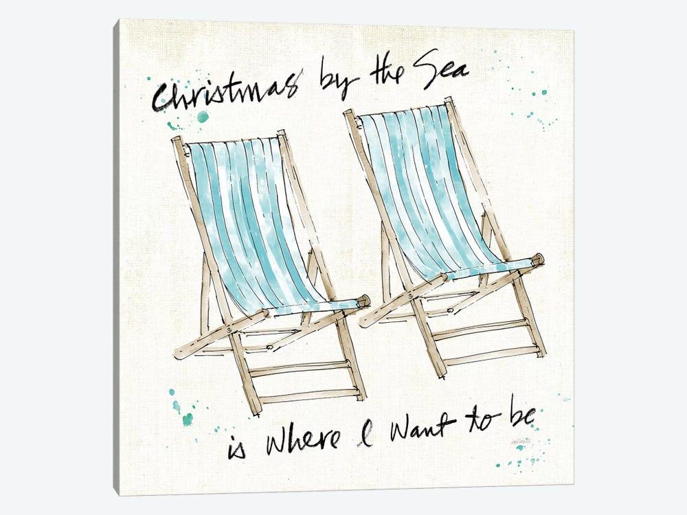 Beach Divas XI Christmas by Anne Tavoletti 1-piece Canvas Wall Art