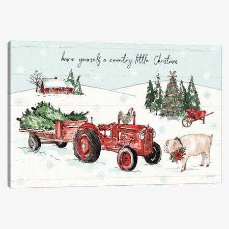 Holiday on the Farm I with Headlights Canvas Print #ATA144} by Anne Tavoletti Canvas Print