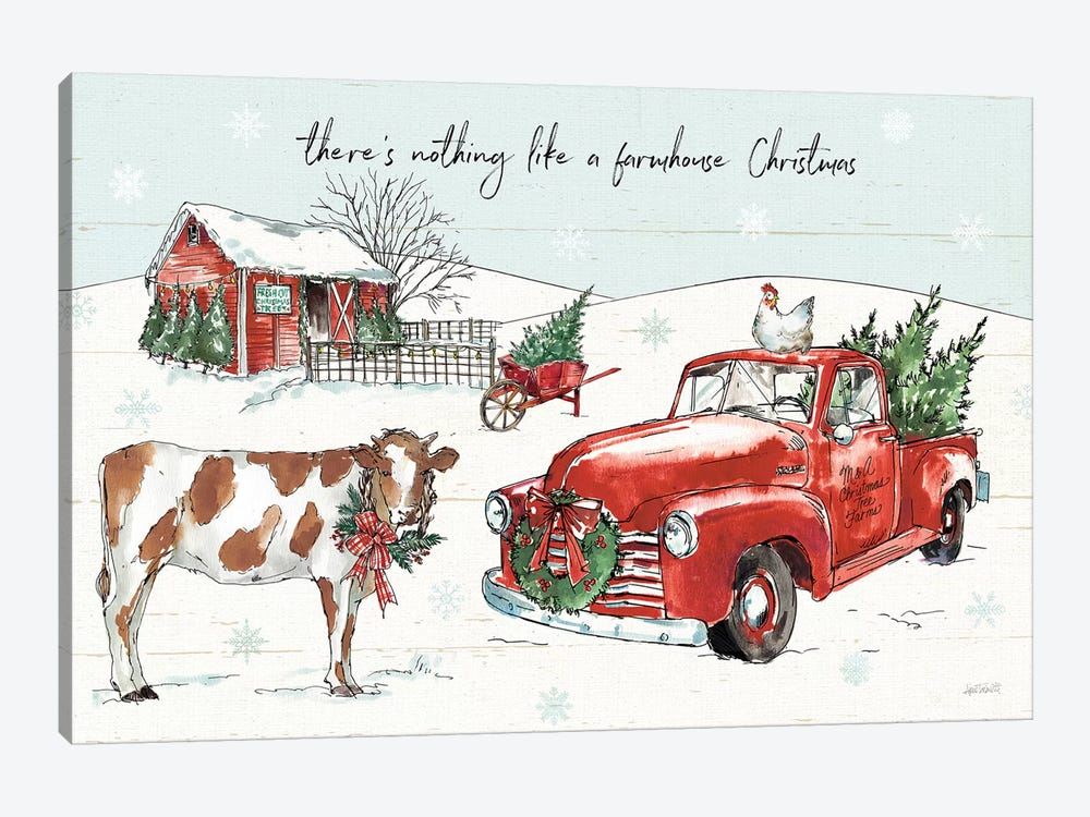 Holiday on the Farm II 1-piece Canvas Wall Art