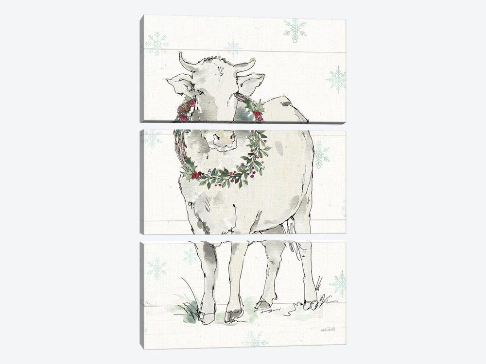 Modern Farmhouse X Christmas by Anne Tavoletti 3-piece Canvas Art Print