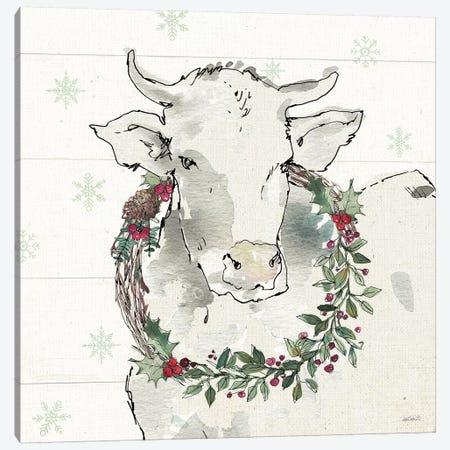 Modern Farmhouse XII Christmas Canvas Print #ATA158} by Anne Tavoletti Art Print