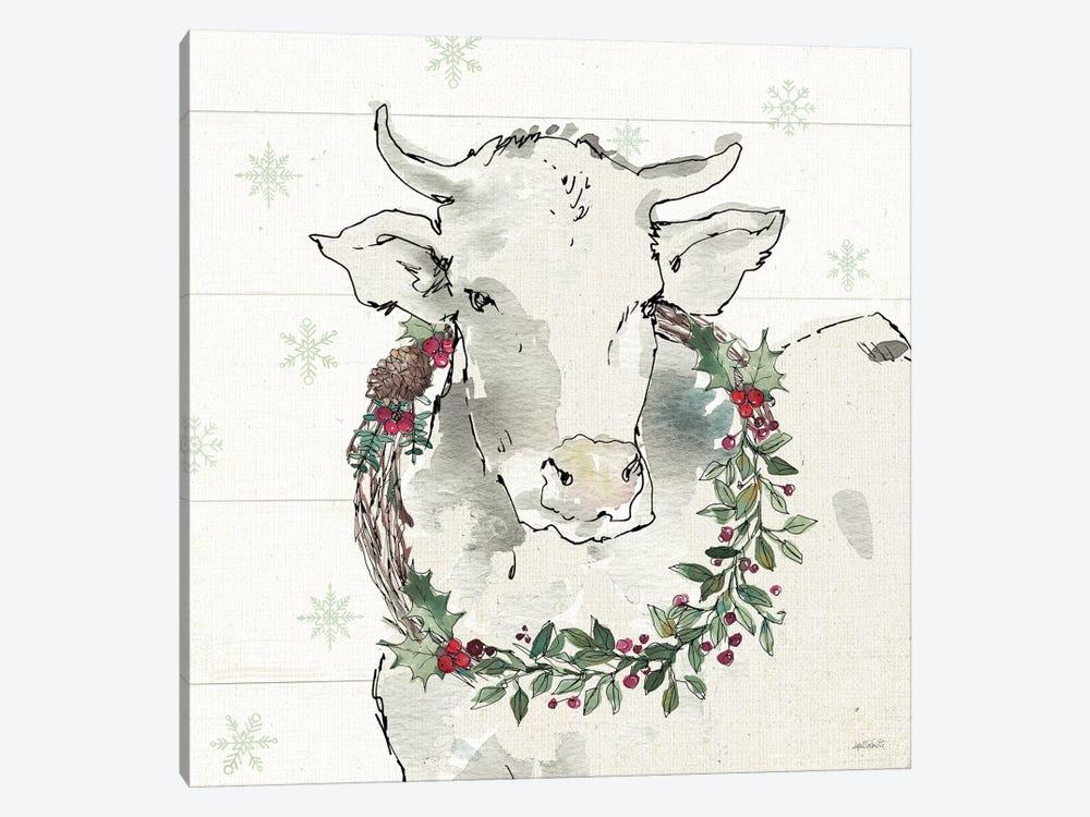 Modern Farmhouse XII Christmas by Anne Tavoletti 1-piece Canvas Artwork