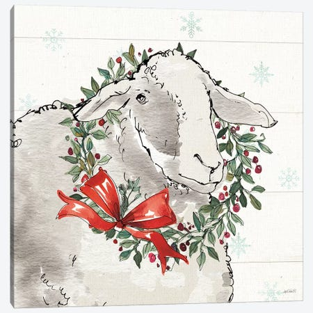 Modern Farmhouse XIII Christmas Canvas Print #ATA159} by Anne Tavoletti Art Print